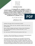 United States v. Mine Workers, 330 U.S. 258 (1947)