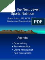 New York Cycle Club April 2016 - Reyna Franco Nutrition Presentation