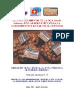 Endulzamiento de La Oca (Oxalis Tuberosa) Una Alternativa Para La Agroindustria Rural en El Ec