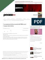 La Ausencia de Ley, Escudo Del INBA en El Casino de La Selva - Proceso