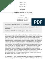 Moore v. Chesapeake & Ohio R. Co., 340 U.S. 573 (1951)