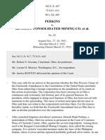 Perkins v. Benguet Consol. Mining Co., 342 U.S. 437 (1952)