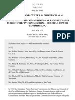 Pennsylvania Water & Power Co. v. FPC, 343 U.S. 414 (1952)