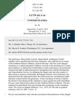 Lutwak v. United States, 344 U.S. 604 (1953)