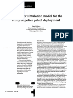 A Computer Simulation Model for the Study of Police Patrol Deployment