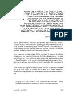 Aplicacion Del Art. 61 de La LIR y Su Reglamento