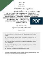 Detroit v. Murray Corp. of America, 355 U.S. 489 (1958)