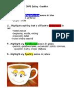 editing cups checklist