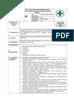 Sop Laporan Penerimaan Dan Penyetoran Uang Retribusi Pasien Umum