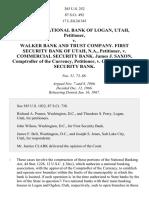 First Nat. Bank of Logan v. Walker Bank & Trust Co., 385 U.S. 252 (1966)