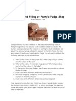 fudge performance task