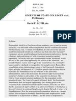Board of Regents of State Colleges v. Roth, 408 U.S. 564 (1972)