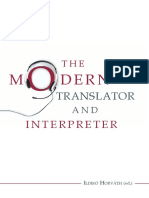 Horvath the Modern Translator