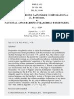 National Railroad Passenger Corporation v. National Assn. of Railroad Passengers, 414 U.S. 453 (1974)