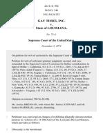 Gay Times, Inc. v. State of Louisiana, 414 U.S. 994 (1973)