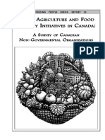 Urban Agriculture and Food Security Initiatives in Canada