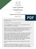 Cosmo Cangiano v. United States, 419 U.S. 904 (1974)