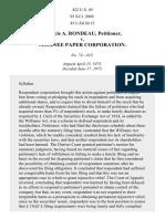 Rondeau v. Mosinee Paper Corp., 422 U.S. 49 (1975)