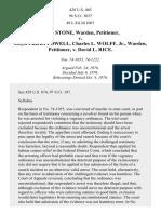 Stone v. Powell, 428 U.S. 465 (1976)