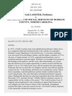 Lassiter v. Department of Social Servs. of Durham Cty., 452 U.S. 18 (1981)
