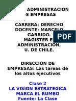 Clase 2 La Vision Estrategica Marca El Rumbo