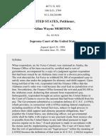 United States v. Morton, 467 U.S. 822 (1984)