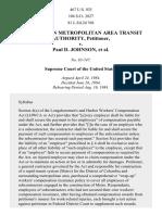 Washington Metropolitan Area Transit Authority v. Johnson, 467 U.S. 925 (1984)