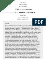 United States v. National Bank of Commerce, 472 U.S. 713 (1985)