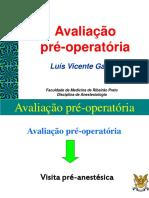 Avaliação Pre Anestesica
