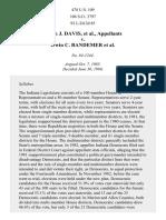 Davis v. Bandemer, 478 U.S. 109 (1986)