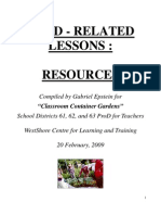 Food Related Lessons - Resource List