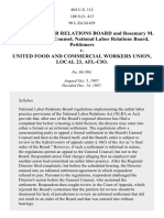 NLRB v. Food & Commercial Workers, 484 U.S. 112 (1987)