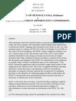 Universityof Pennsylvania v. EEOC, 493 U.S. 182 (1990)