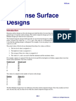 Response Surface Designs Explanation