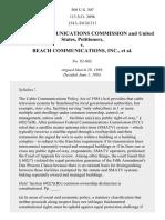 FCC v. Beach Communications, Inc., 508 U.S. 307 (1993)