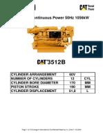 XQ1500E Engine Data Continous 1.05MW