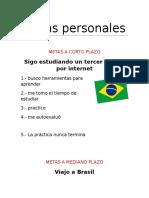 Metas Personales