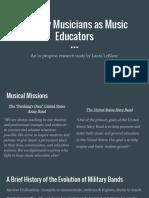 military musicians as music educators