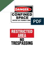 Safety Signed