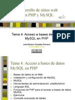 Desarrollo MySql y PHP