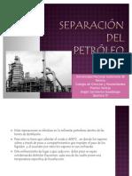 Separación del petróleo