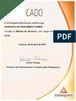 Certifica Do Anhanguera