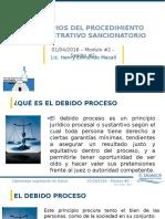 Principios Del Procedimiento Administrativo Sancionatorio 2016