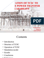 Application of Tcsc to Enhance Power Transfer Capability