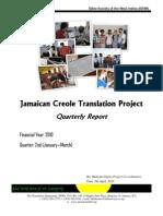 Jamiekan Baibl Report Jan - Mar 2010