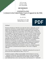 Henderson v. United States, 517 U.S. 654 (1996)