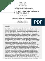 Medtronic, Inc. v. Lohr, 518 U.S. 470 (1996)