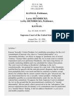 Kansas v. Hendricks, 521 U.S. 346 (1997)