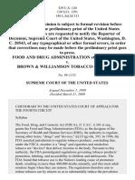 FDA V Brown Williamson Tobacco Corp 529 US 120 2000