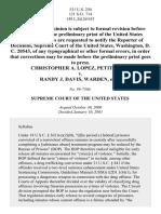 Lopez v. Davis, 531 U.S. 230 (2001)